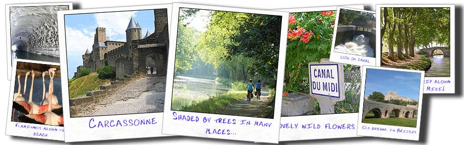 collage canal du midi france bike tours