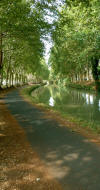 canal du midi towpath from beziers to the beach