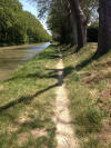 sometimes the towpath gets narrow