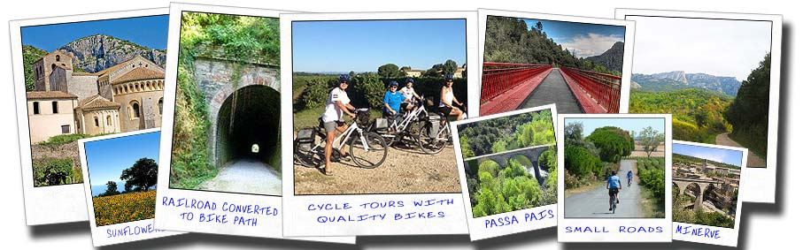 languedoc bike tours collage bicycle trips