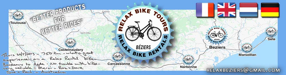 canal du midi bicycle hire bike rentals logo header